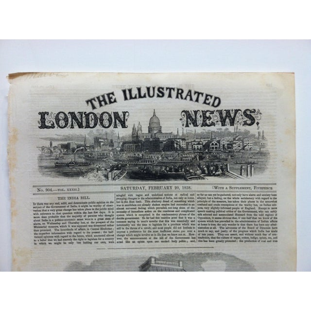 """1858 Antique Illustrated London News """"The Royal Bridal Tour"""" Print For Sale - Image 4 of 5"""