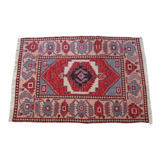 "Hand-Knotted Kilim Rug - 5'11″ x 8'6"" For Sale"