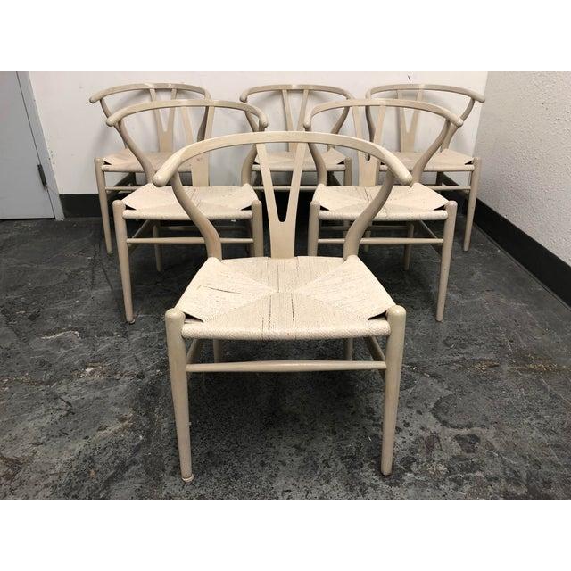 Set of Six Mid-Century Hans Wegner Wishbone Chairs For Sale - Image 12 of 12