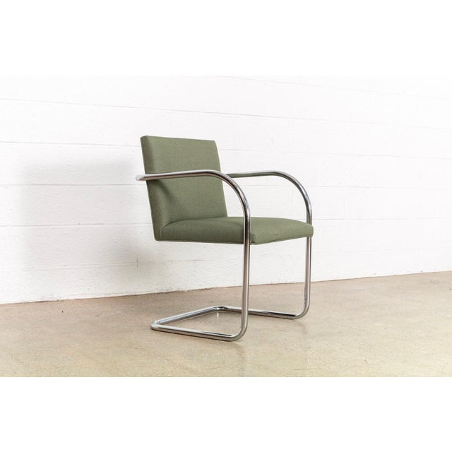 Mies Van Der Rohe Green Brno Chairs For Sale - Image 9 of 11