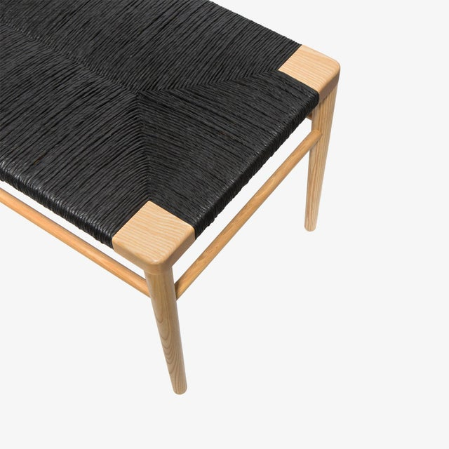 Prime Solid Ash Frame Bench With Hand Woven Black Rush Seat Inzonedesignstudio Interior Chair Design Inzonedesignstudiocom