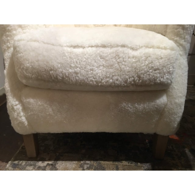 Americana Shearling Arm Chair by Lee Industries For Sale - Image 3 of 13