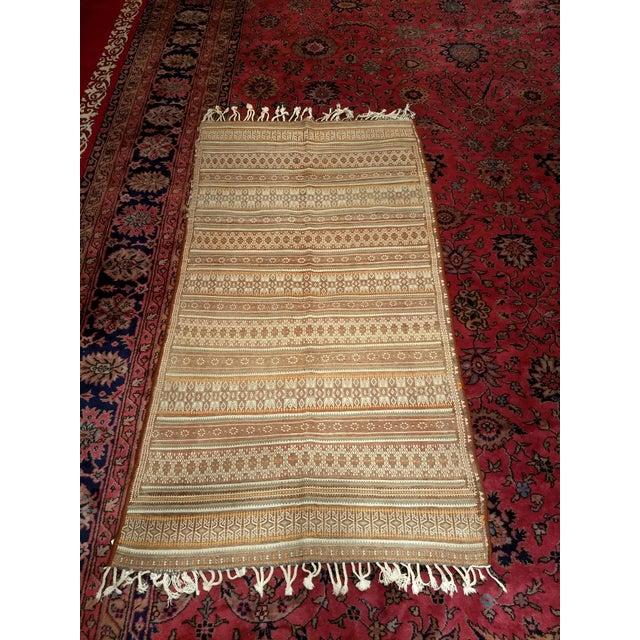 Vintage Uzbek Kilim Rug - 3′7″ × 6′7″ For Sale - Image 9 of 10