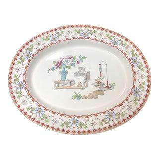 """1800's Antique """"Canton"""" Copeland Platter For Sale"""