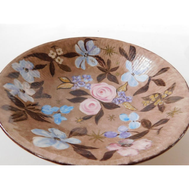 Hand-Painted Swedish Floral Porcelain Bowl For Sale - Image 12 of 13