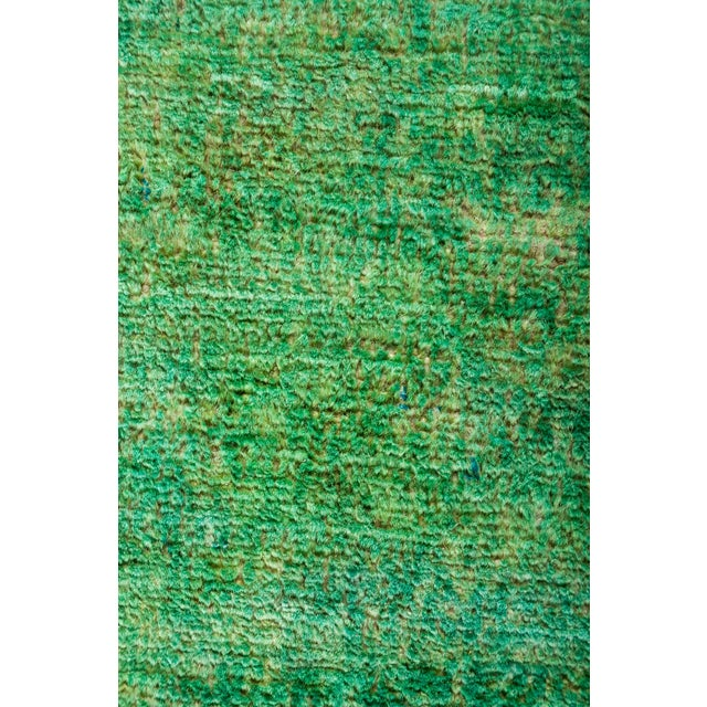 """New Overdyed Hand Knotted Runner - 3'1"""" x 7'10"""" - Image 3 of 3"""