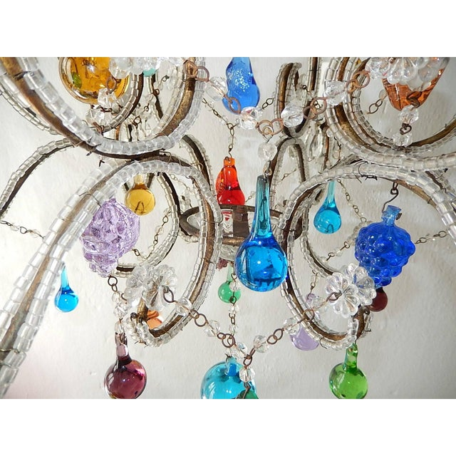 Italian Beaded Murano Colorful Fruit Chandelier, 1920 For Sale - Image 10 of 12