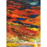 Image of Abstract Expressionist Colorful Oil Painting For Sale