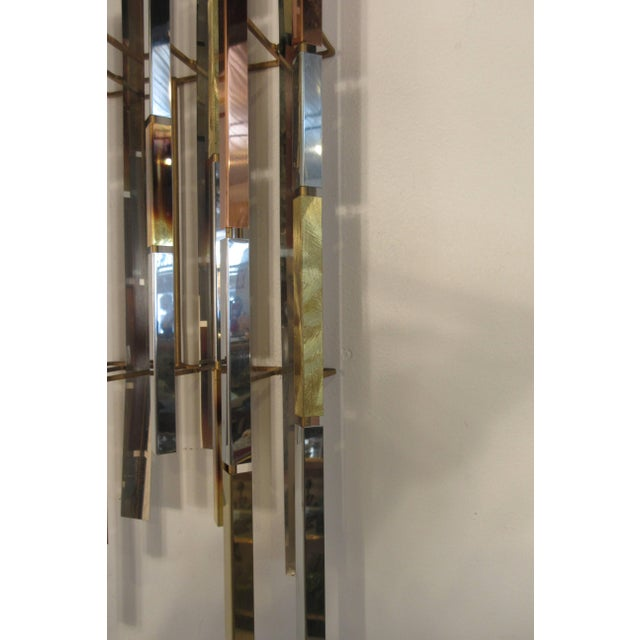 1970s MIX Metal Wall Sculpture For Sale - Image 10 of 11