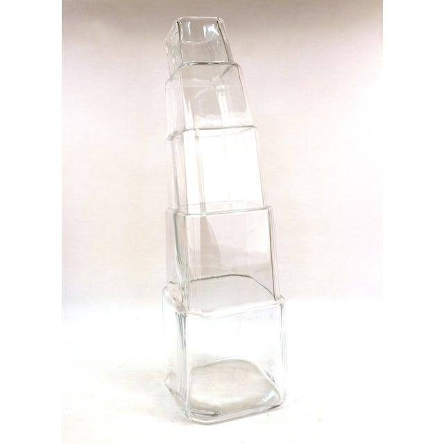 Modern Denizli Modern Stacked Leaning Glass Vase For Sale - Image 3 of 10