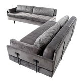 Image of Mid Century Modern Daybed Sectional Sofa Set For Sale