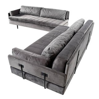 Mid Century Modern Daybed Sectional Sofa Set For Sale