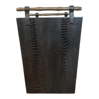 French Modern Snakeskin Wastepaper Basket, by R&y Augousti For Sale