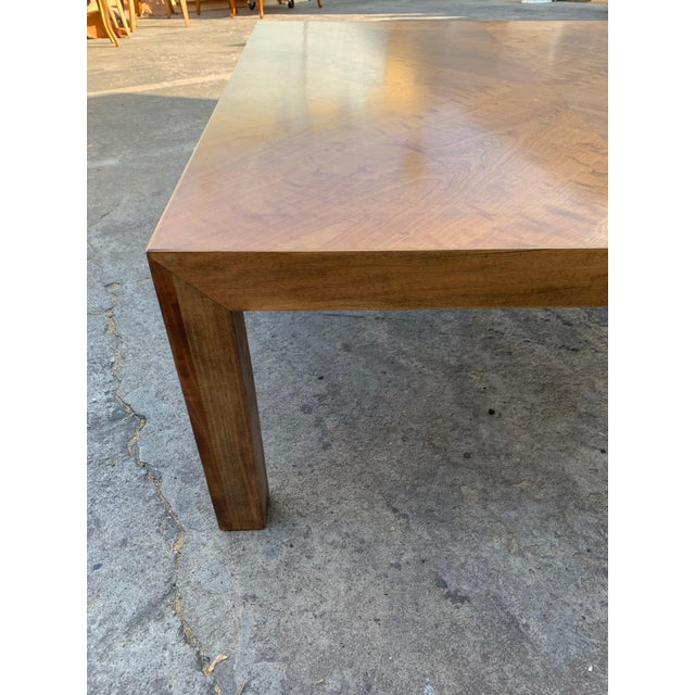 Coffee Mid Century Modern Parquet Wood Coffee Table For Sale - Image 8 of 11