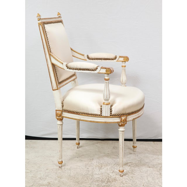 Louis XVI Style Armchairs - a Pair For Sale - Image 4 of 9