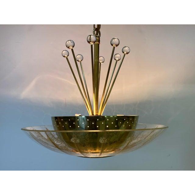 Vintage Brass Sputnik Style Chandelier For Sale - Image 11 of 13