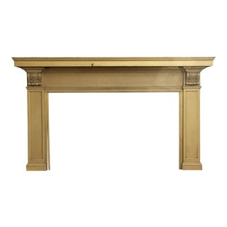 Turn of the Century Stately Wooden Mantel For Sale