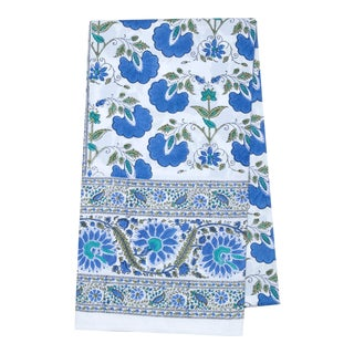 Janvi Tablecloth for 10-Seat Table in Blue For Sale