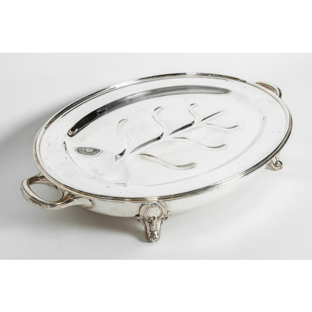 English Silver Plate Venison Dish With Covered Dome For Sale - Image 10 of 13