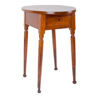 19th Century Country Cherry Splay-Legged Tavern Table For Sale