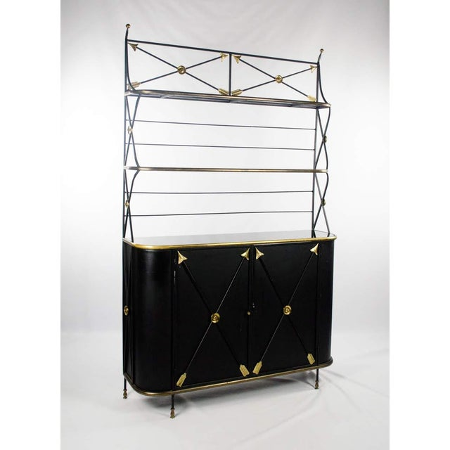 Modern Campaign Style Bakers Rack and Cabinet For Sale - Image 13 of 13