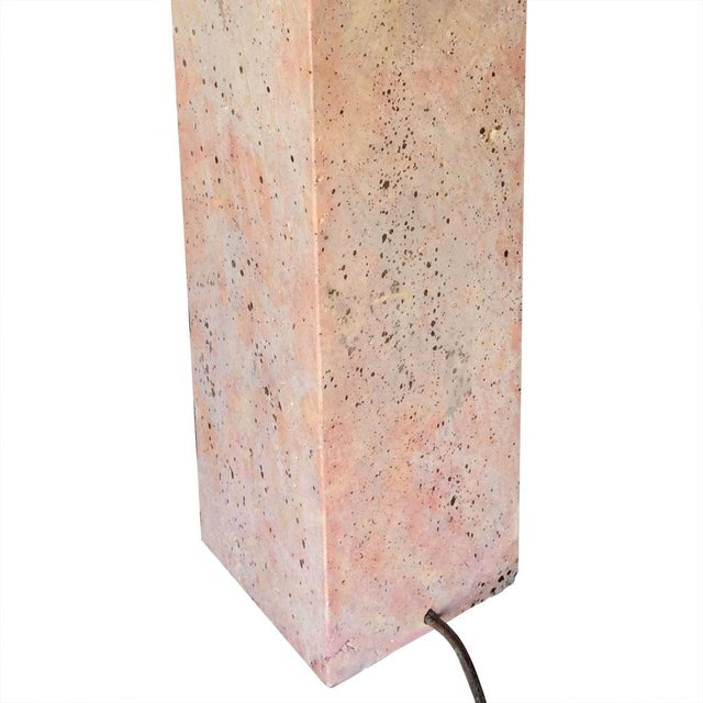 Modernist Stone Composite Lamp - Image 4 of 5