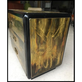 Mastercraft Acid Etched Brass & Black Lacquer 3 Drawer Dresser Bernhard Rohne Preview