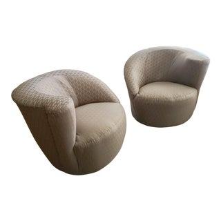 1990s Vintage Vladimir Kagan Nautilus Chairs- a Pair For Sale