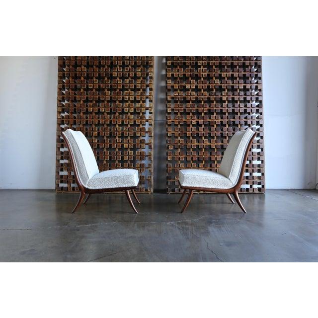 Danish Modern T.H. Robsjohn-Gibbings for Widdicomb Slipper Chairs - a Pair For Sale - Image 3 of 12