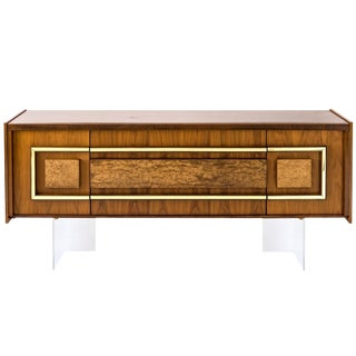 Mid-Century Credenza on Lucite Base