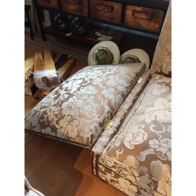 Fabric George Smith Knoll Style Sofa For Sale - Image 7 of 8