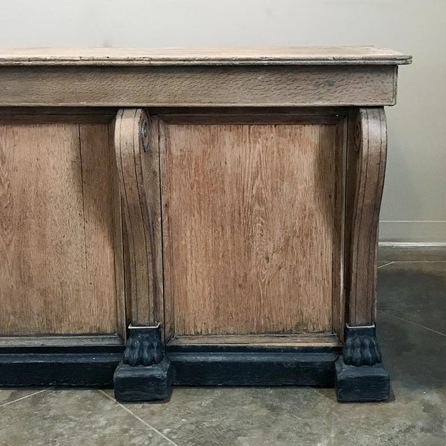 19th Century French Louis Philippe Comptoire ~ Store Counter For Sale In Dallas - Image 6 of 12