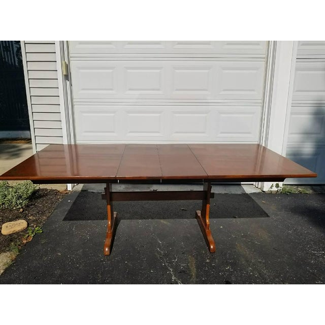 L. Hitchcock Furniture Harvest Trestle Table with 2 Leafs - Image 3 of 8