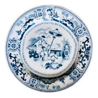 Petrus Regout & Co. Dutch Delft Transferware Plate For Sale