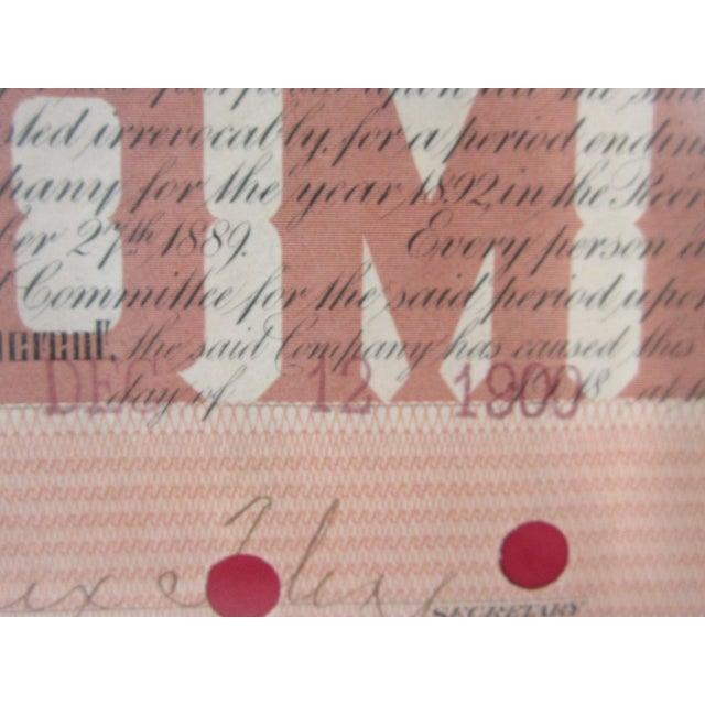 1900 Texas Railroad Stock Certificate