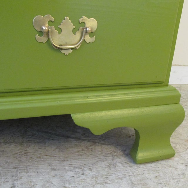 Metal 1940s Painted Green Eight Drawer Chest on Chest Dresser For Sale - Image 7 of 10