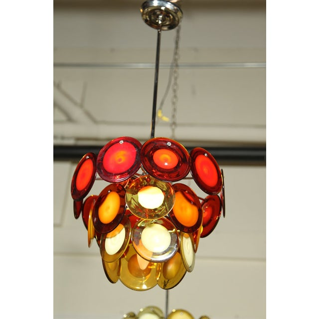 Murano Vostisis Murano Glass Tiered Chandelier For Sale - Image 4 of 5