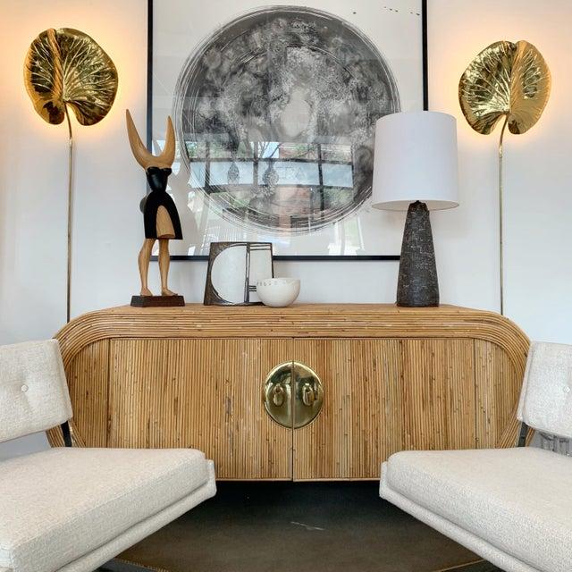 "Designer: Attr. Gabriella Crespi USA - Circa 1980s Dimensions: 30.5"" H x 72.5"" W x 21"" D Condition: Very good vintage..."