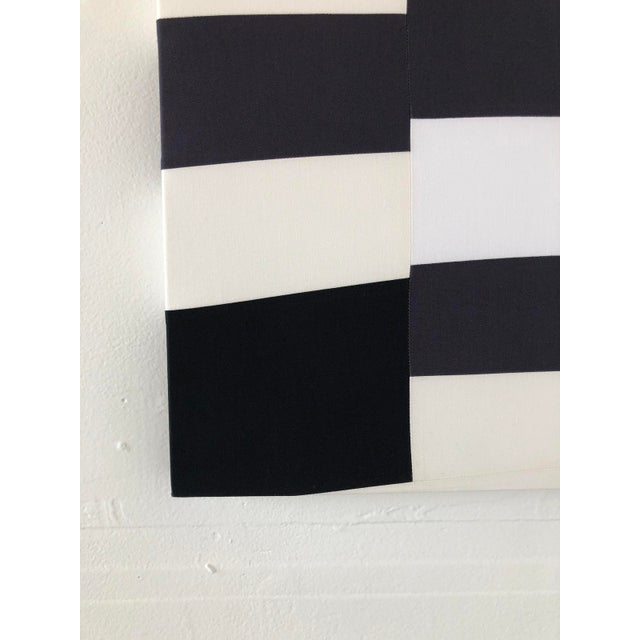 2010s Abstract Minimalist Black and White Textile Painting For Sale - Image 5 of 12