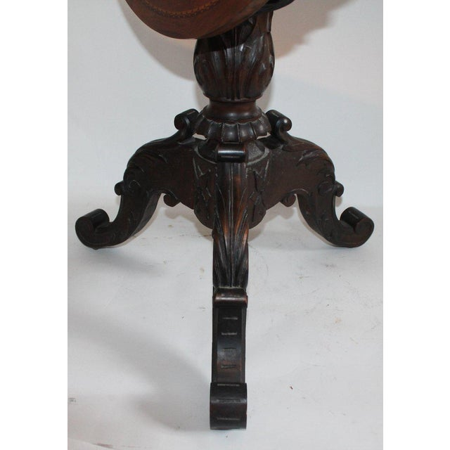 Antique Table With 19th Century Marque Inlaid Stars Top For Sale - Image 9 of 11
