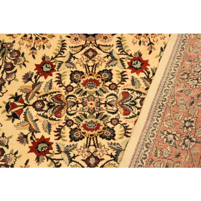Adil Pak-Persian Alexia Ivory/Rust Wool Rug - 5'1 X 8'2 For Sale - Image 4 of 8