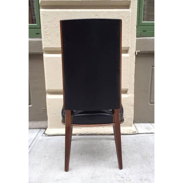 Six Leather Dining Chairs For Sale - Image 4 of 8