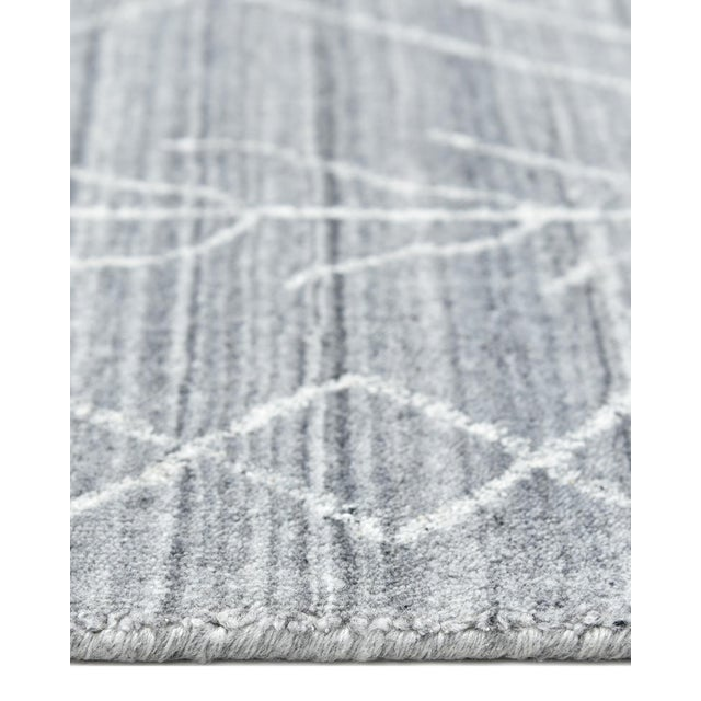 Maxwell, Bohemian Moroccan Hand Loom Area Rug, Silver, 5 X 8 For Sale In New York - Image 6 of 9
