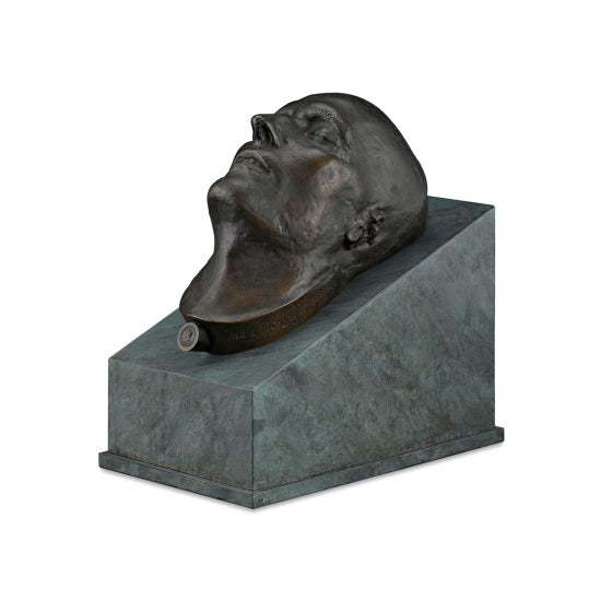 French Bronze Death Mask of Napoleon i For Sale - Image 3 of 8