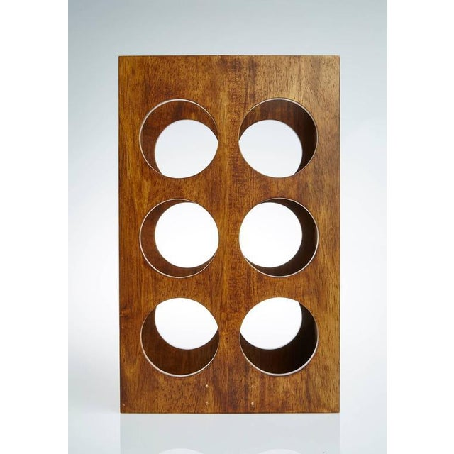 Sculptural Modern Walnut Magazine Rack - Image 2 of 6