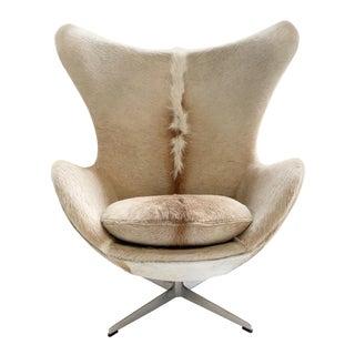 Arne Jacobsen for Fritz Hansen Egg Chair in Brazilian Cowhide For Sale