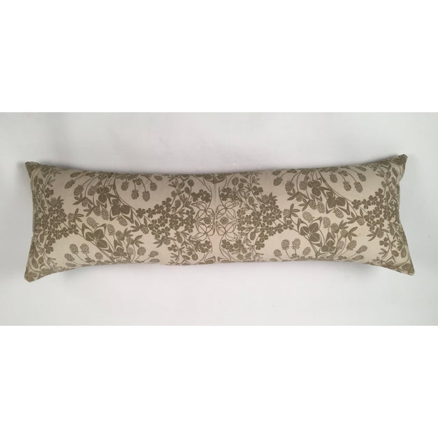 Original Folly Cove Designers Hand Block Printed Clover Pillow - Image 2 of 9