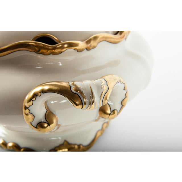 Antique European Porcelain Covered Tureen For Sale - Image 4 of 5