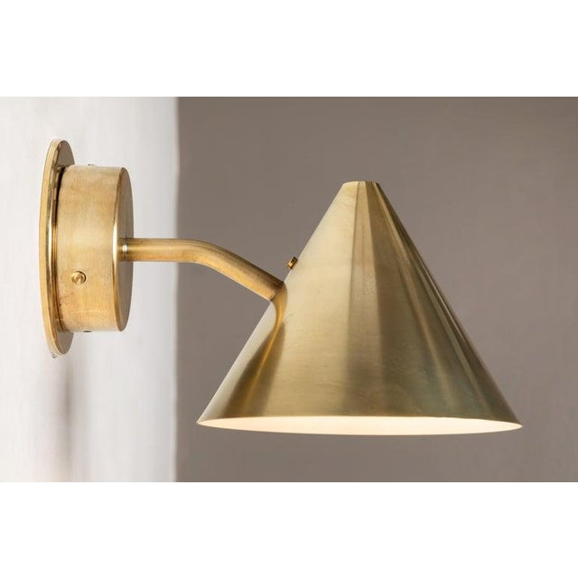 Hans-Agne Jakobsson Hans-Agne Jakobsson 'Mini-Tratten' Polished Brass Outdoor Sconces - a Pair For Sale - Image 4 of 13
