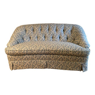 Kaufman Fabric Beachley Custom Made Loveseat For Sale